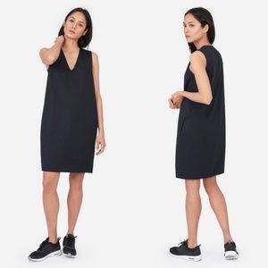 Everlane The Cotton Poplin V-Neck Tank Dress Black